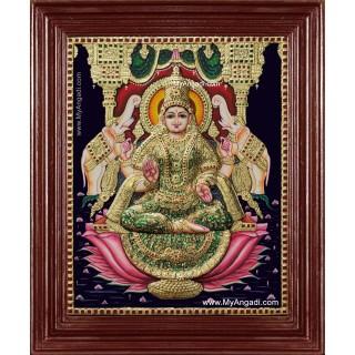 Shree Gaja Lakshmi Tanjore Painting