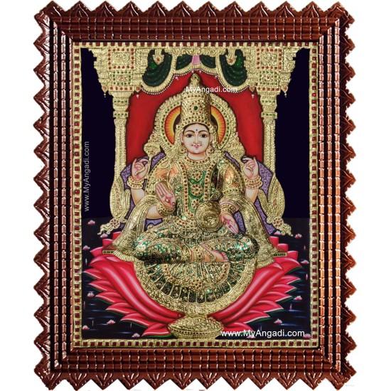 Shree Maha Lakshmi Tanjore Painting