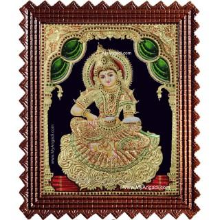 Sri Anna Lakshmi - Annapurani Tanjore Painting