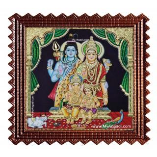 Shiva Family Tanjore Painting
