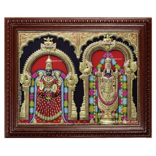 Balaji Padmavathi Thaayar Tanjore Painting