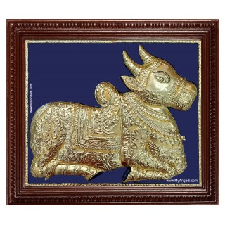 Nandhi Bagavan Shiva Vehicle Tanjore Painting