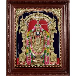 Tirupati Balaji 3d Embossed Tanjore Painting