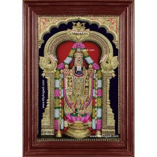 Tirupati Balaji Lakshmi 3d Embossed Tanjore Painting