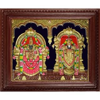 Balaji Padmavati Amma 3d Embossed Tanjore Painting
