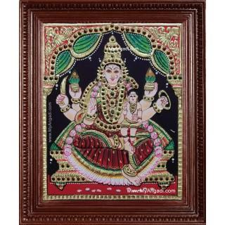 Veera Lakshmi Tanjore Painting