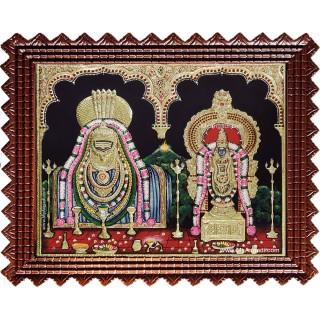 Arunachaleswar Abhithakujambal Tanjore Painting