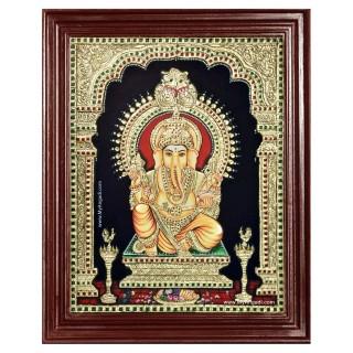Raja Ganapathi Tanjore Painting