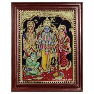 Ramar Lakshmanan Sita Hanuman Tanjore Painting