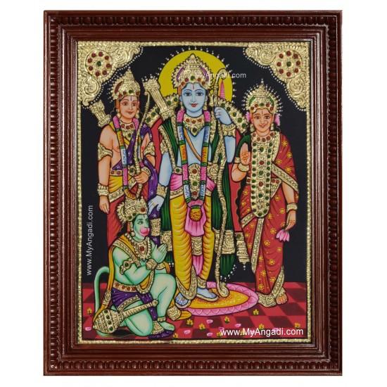 Ramar Sita Lakshmanan Hanuman Tanjore Painting