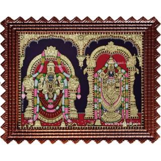 Balaji Padmavathi Thayar Tanjore Painting