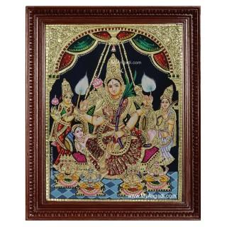 Raja Rajeshwari Tanjore Painting