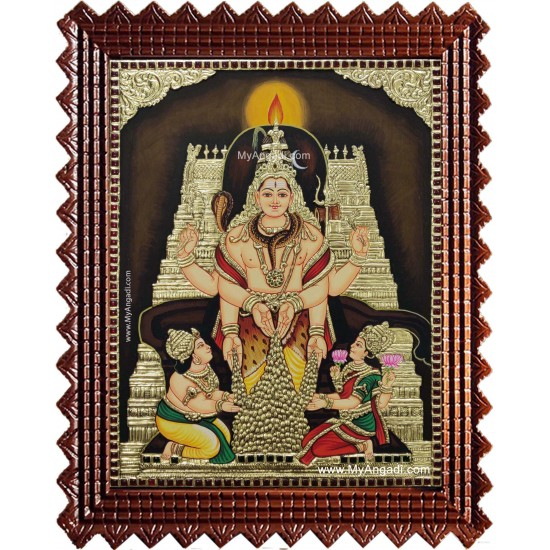 Iswarya Eswarar Lakshmi Kuberar Tanjore Painting