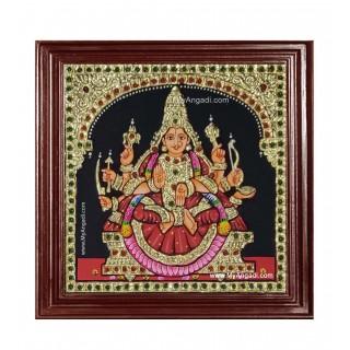 Veera Lakshmi Ashtlakshmi Tanjore Painting