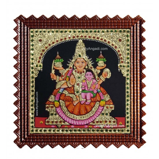Santhana Laskhmi Ashtlakshmi Tanjore Painting