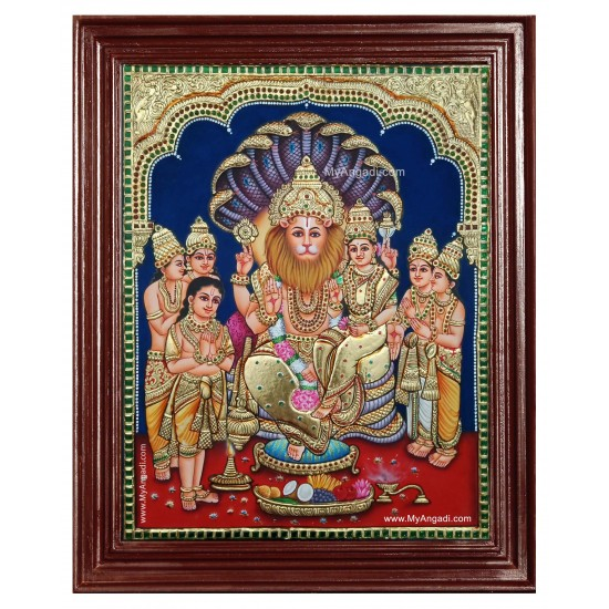 Lakshmi Narasimmar Tanjore Painting