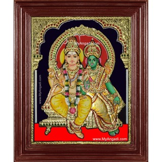 Shiva Paarvathi Tanjore Painting