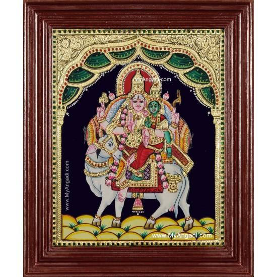 Siva Parvathi Pradosha Sivan Tanjore Painting