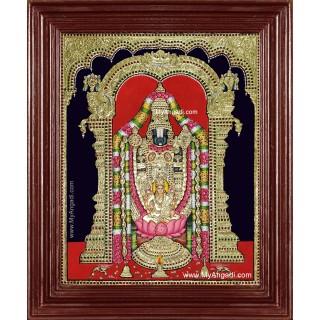 Tirupathi Balaji Lakshmi Big Size Tanjore Painting
