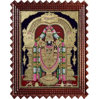 Tirupathi Balaji Big Size Tanjore Painting