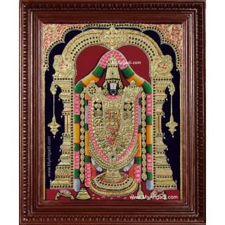 Sri Venkateswara Swamy Balaji Tanjore Painting