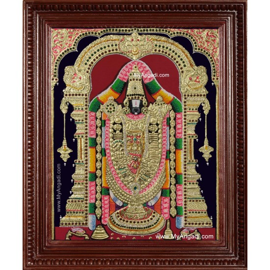 Sri Venkateswara Swamy Balaji Tanjore Painting Buy Sri Venkateswara Swamy Balaji Tanjore Paintings Online
