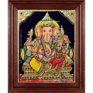 Vallabha Ganesha Tanjore Painting