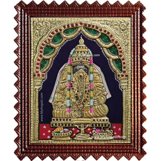 Pillayarpatti Karpaga Vinayakar Tanjore Painting