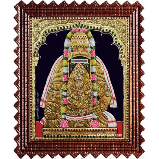 Pillayarpatti Karpaka Vinayakar Tanjore Painting