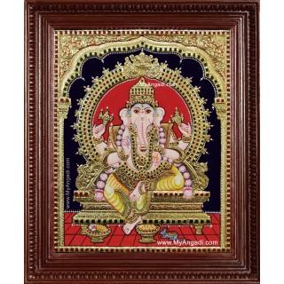 Shri Ganesh Ji Tanjore Painting