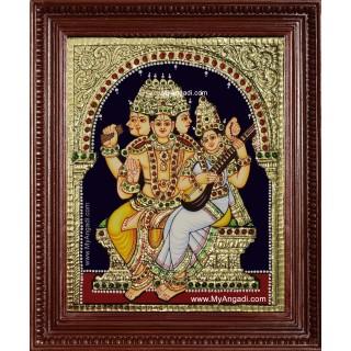 Brahma Saraswathi Tanjore Painting