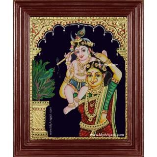 Yasodha Krishna Tanjore Painting
