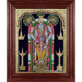 Lord Guruvayurappan Krishna Tanjore Painting