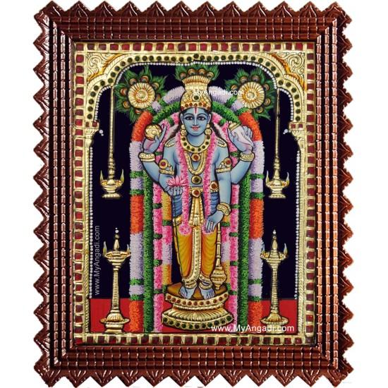 Guruvayur Sri Krishna Tanjore Painting