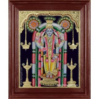 Guruvayur Krishna Tanjore Painting