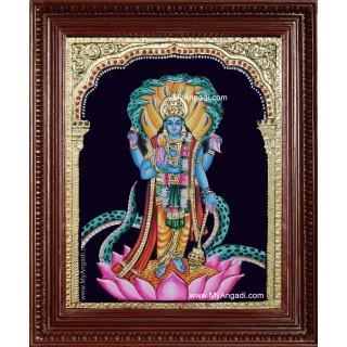 Vishnu Narayana Swami Tanjore Painting