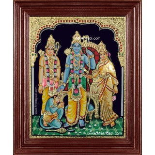 Sri Ramar Pattabhishekam Tanjore Painting