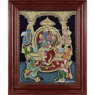 Ram Darbar Tanjore Painting