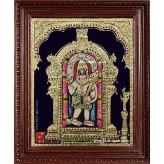 Ashtamsa Hanuman Tanjore Painting