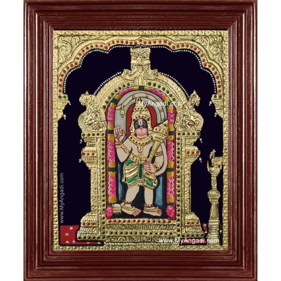 Shree Ashtamsa Varadha Anjaneyar Tanjore Painting