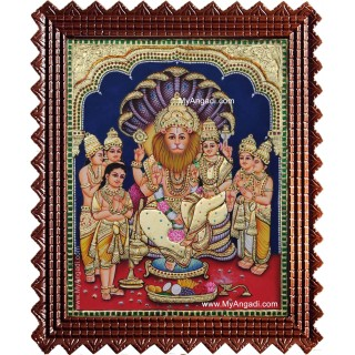 Lakshmi Narasimmar Prahaladhan Tanjore Painting