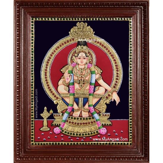 Shree Ayyappa Swamy Tanjore Painting