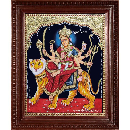 Shree Durga Devi Tanjore Painting