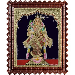 Shree Andaal Tanjore Painting