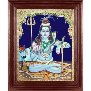 Lord Shiva Ji Tanjore Painting