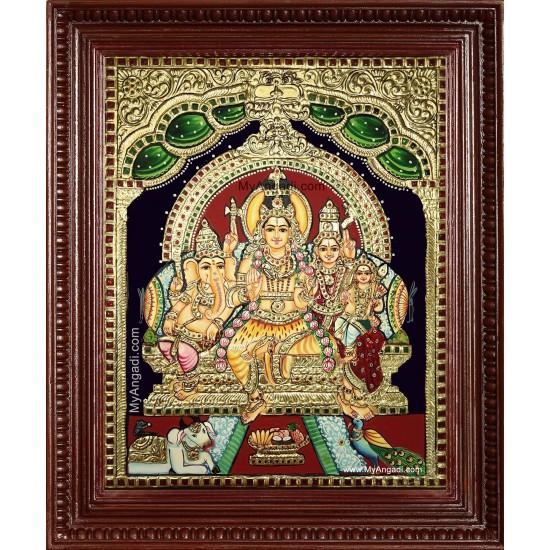 Siva Kudumbam Tanjore Painting