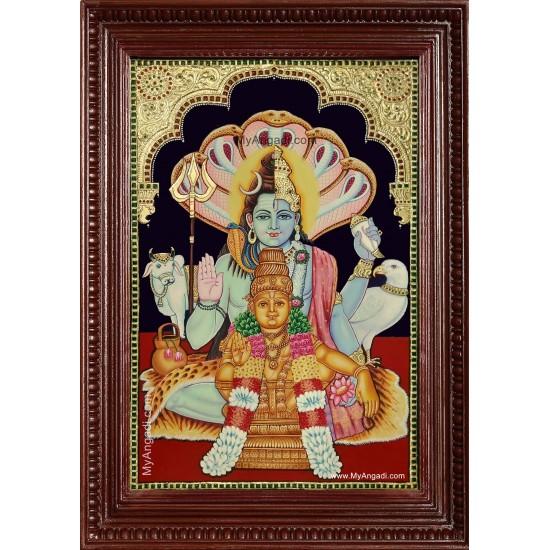 Sankara Narayanan Hariharan - Ayyappan Tanjore Painting