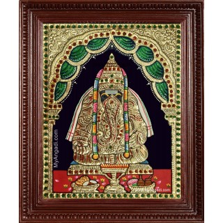 Pillayarpatti Ganesha Tanjore Painting