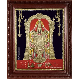 Thirupathi Venkatachalapathi Tanjore Painting