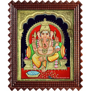 Shree Ganesha Tanjore Painting